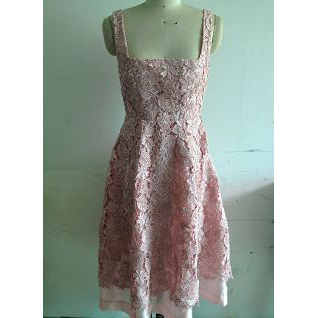 Ladies Fairy Pink Lace Dress
